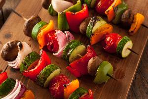 Vegetable Kabob Salad