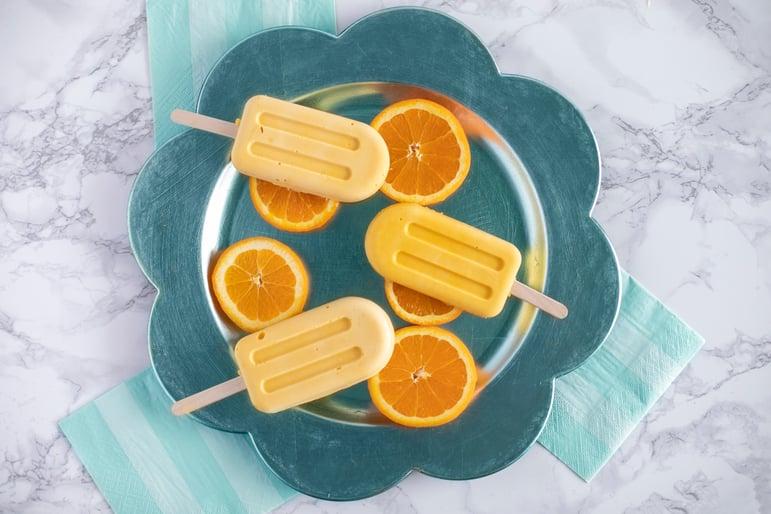 Orange Creamsicles on plate