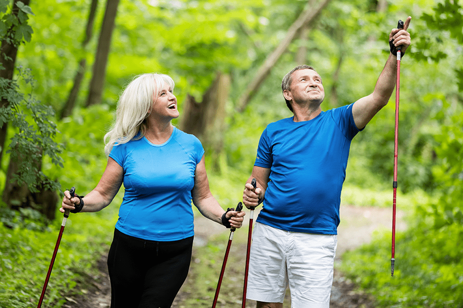 Healthy couple getting some exercise