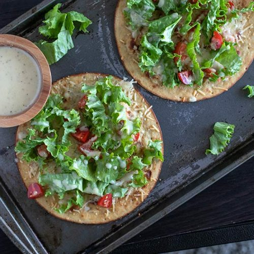 Delicious Caesar Salad Pizza