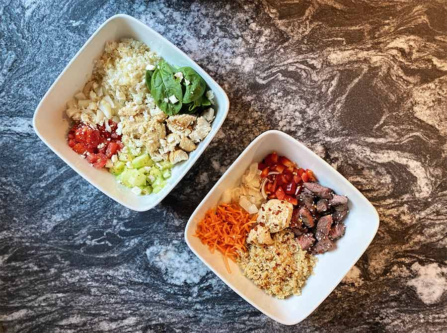 Healthy and delicious food bowl.