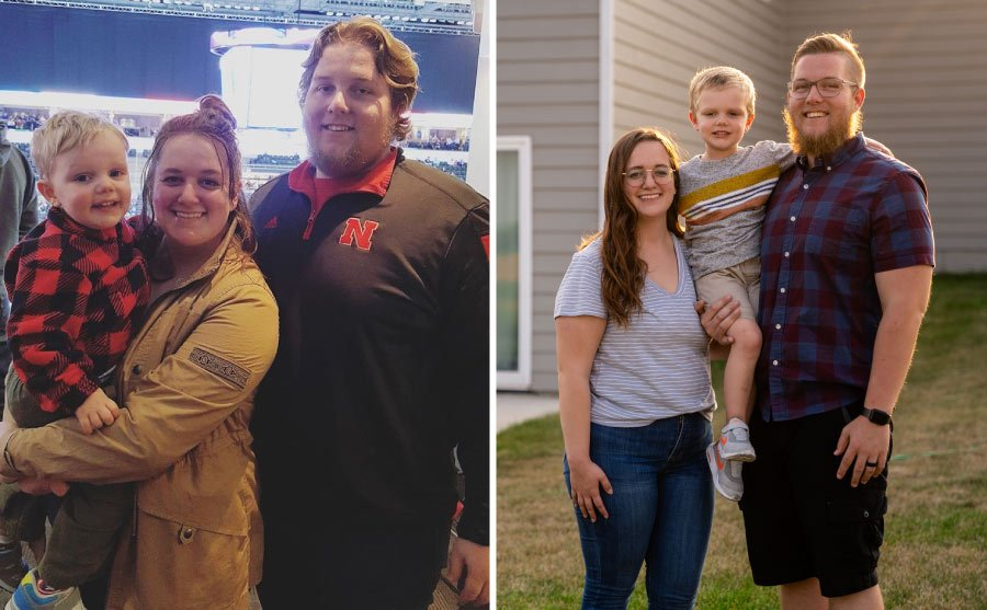 before and now weight loss photos, young couple get healthy