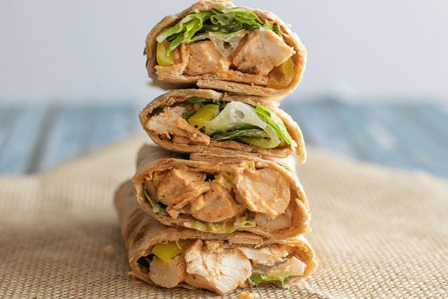 Delicious and Nutritious Buffalo Chicken Salad Wrap