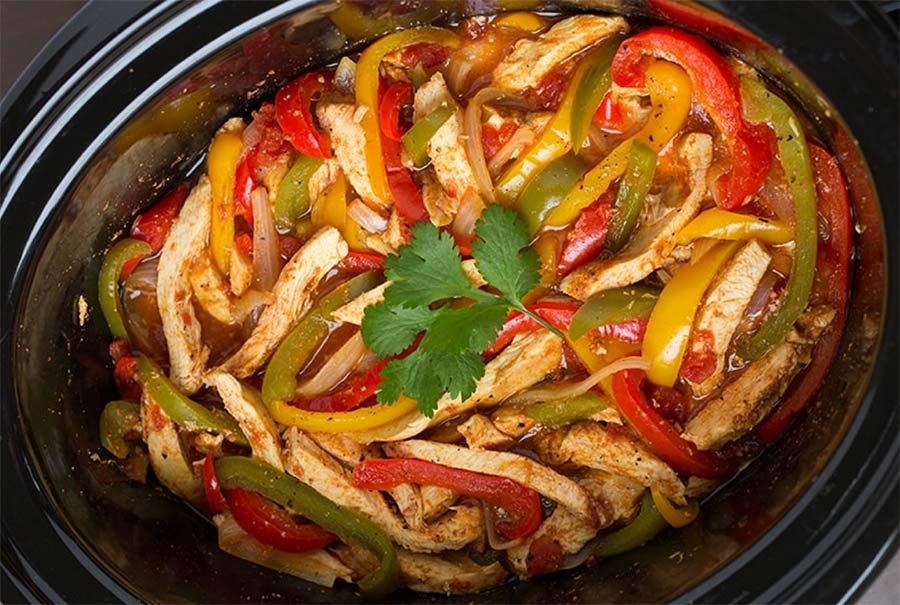 National Slow-Cooker Month - Chicken Fajitas