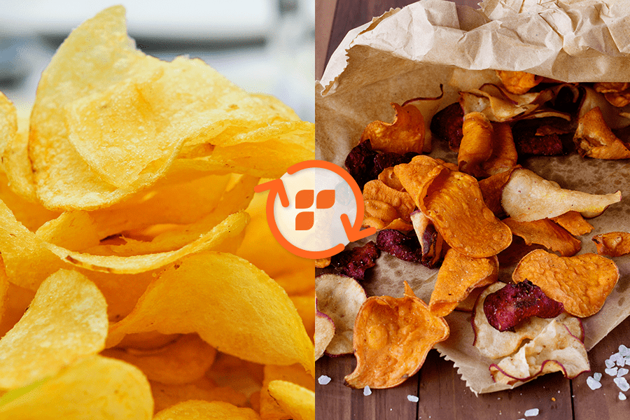 12 best air fryer recipes for weight loss. picture of delicious, low-carb chips!
