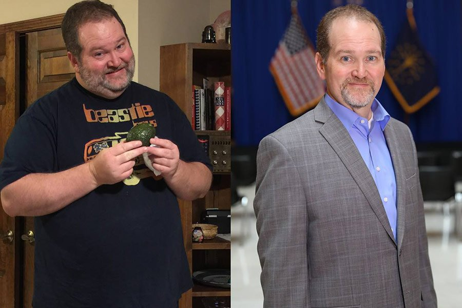 Before and now photo of Jason B and his weight loss guided by Profile Precise DNA kit.