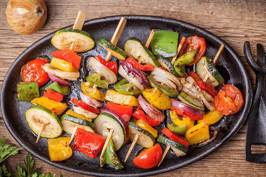 Heart Healthy Vegetable Kabob Salad