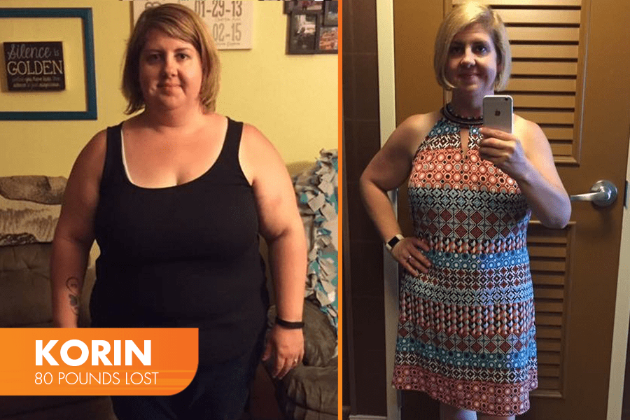 Korin Lost 80 pounds on Profile