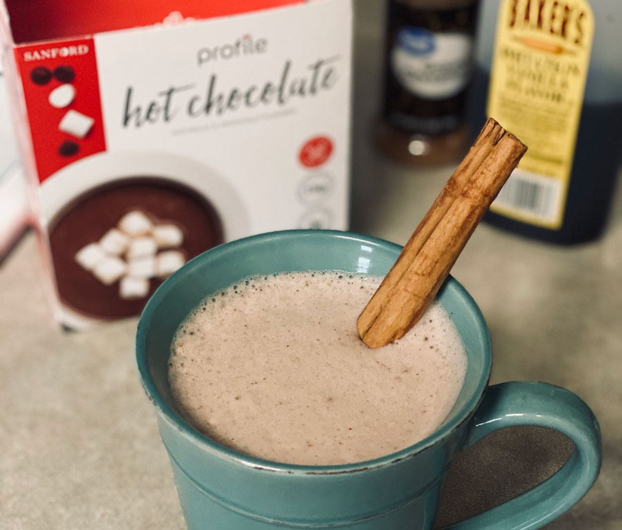 Mexican Hot Chocolate healthy Recipe with Cinnamon.
