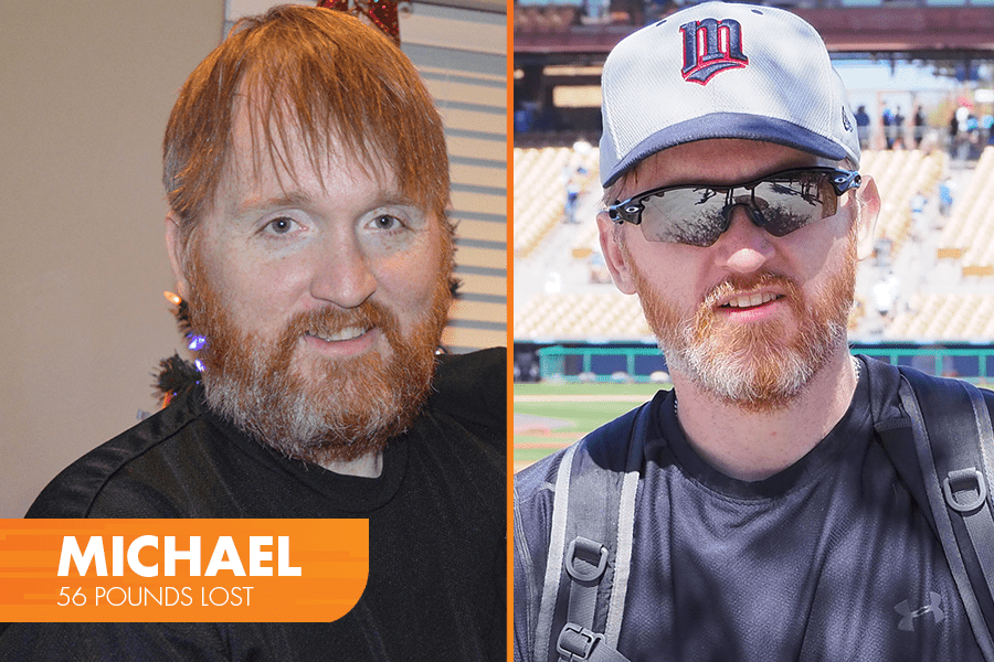 Mike lost 56 pounds on Profile