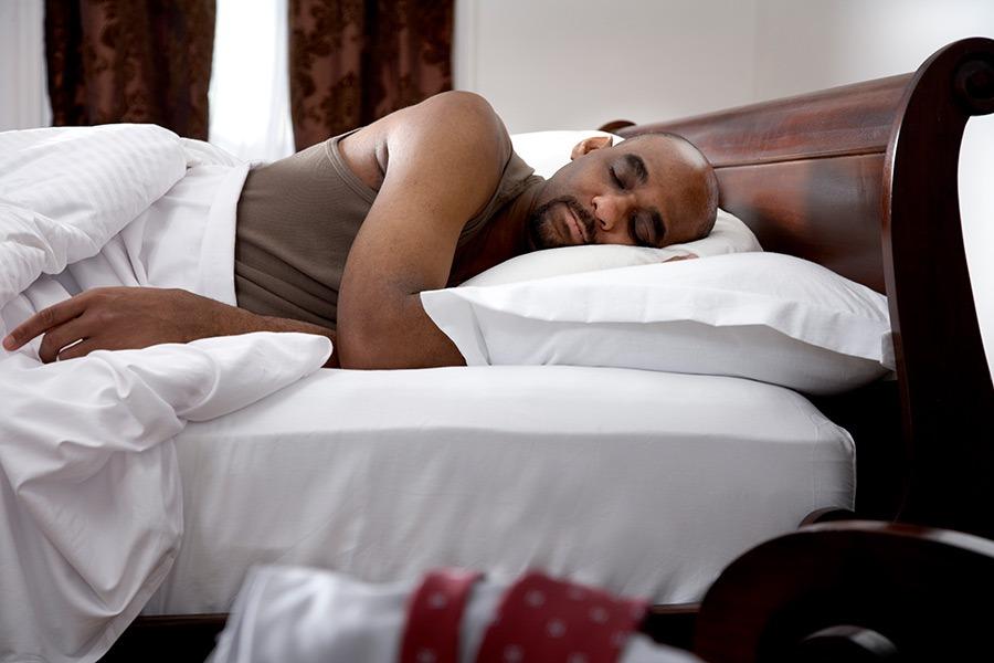 male sleeping, sleep and weight loss