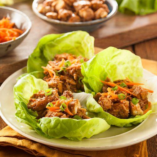 Healthy Thai Lettuce Wraps Recipe