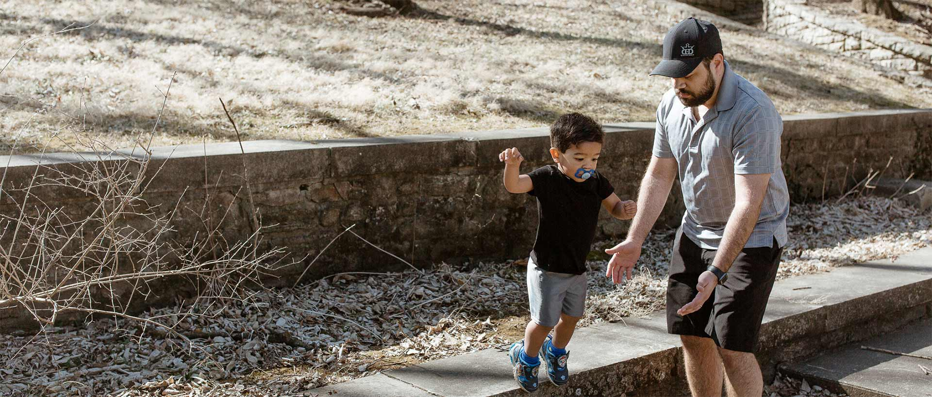 After losing weight with Profile by Sanford, Travis has more energy to go for a walk with his son.