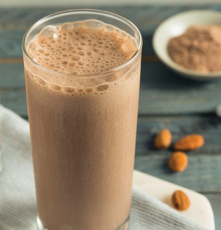 Photo of a pea-protein, vegan, protein shake.