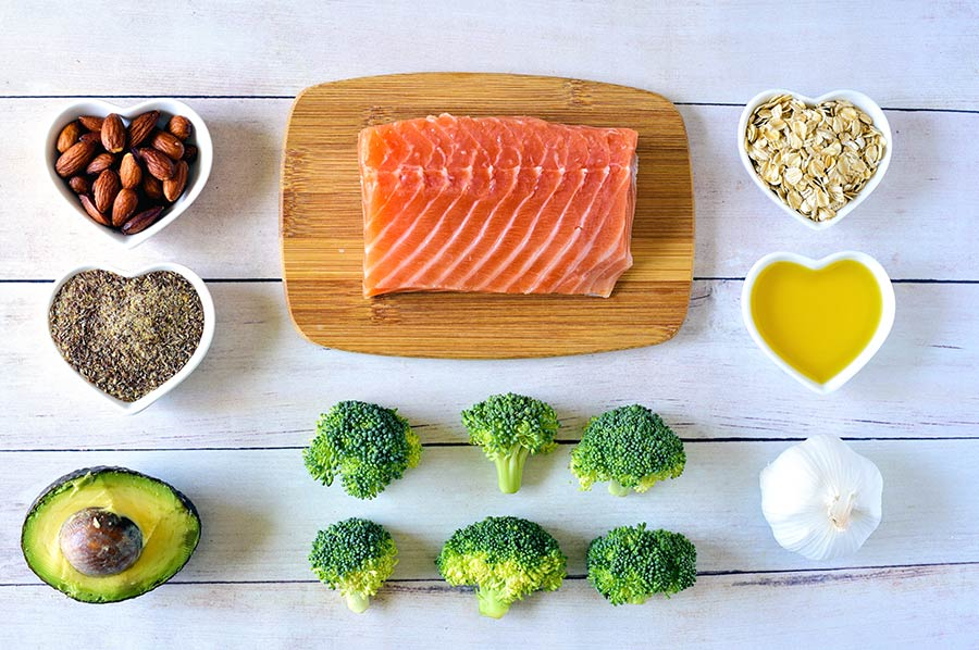 ingredients for a salmon dish