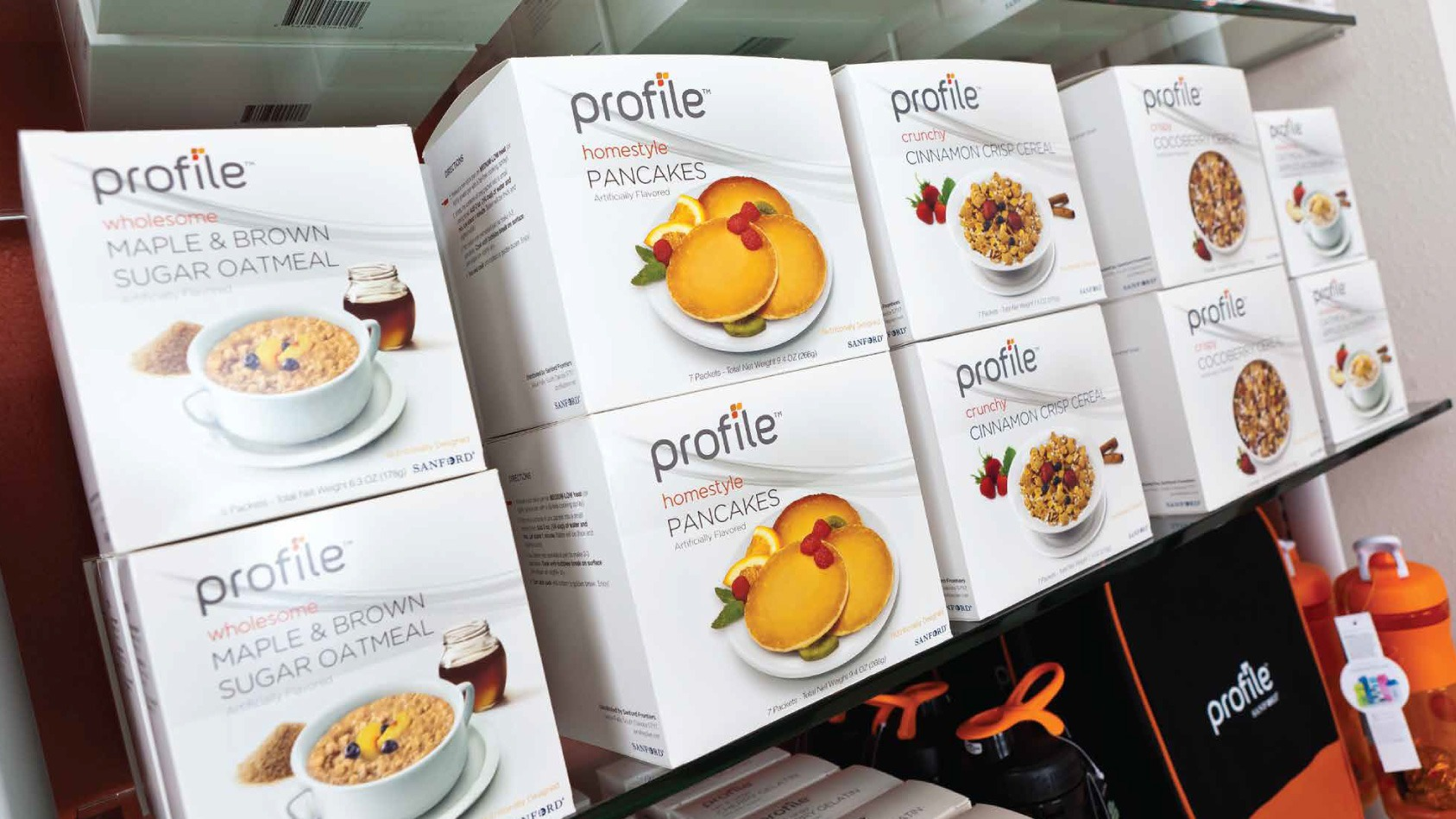 Profile Food Products, including Maple Brown Sugar Oatmeal, Pancakes, Cinnamon Crisp Cereal and more.