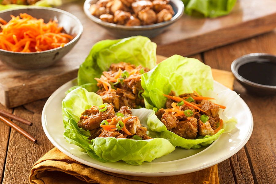 Delicious and Healthy Thai Lettuce Wrap